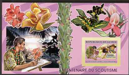 Guinea - Conakry 2006 Centenary of Scouting imperf s/sheet #07 containing 1 value (Orchids) unmounted mint Yv 370
