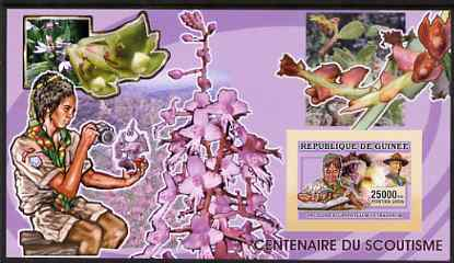 Guinea - Conakry 2006 Centenary of Scouting imperf s/sheet #08 containing 1 value (Orchids) unmounted mint Yv 371