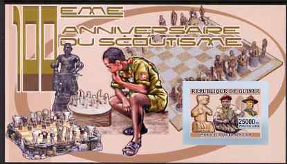 Guinea - Conakry 2006 Centenary of Scouting imperf s/sheet #09 containing 1 value (Chess) unmounted mint Yv 372