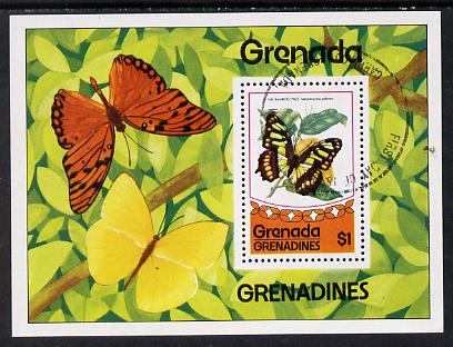 Grenada - Grenadines 1975 Butterflies m/sheet cto used SG MS 83