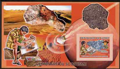 Guinea - Conakry 2006 Centenary of Scouting imperf s/sheet #12 containing 1 value (Minerals) unmounted mint Yv 378