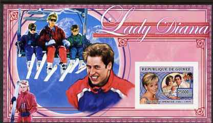 Guinea - Conakry 2006 Princess Diana imperf s/sheet #01 containing 1 value (In ski lift) unmounted mint Yv 343