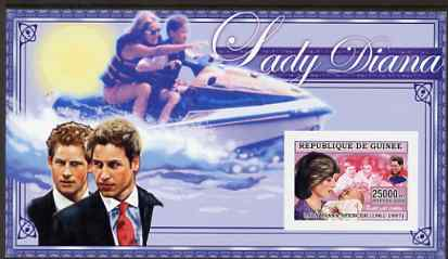 Guinea - Conakry 2006 Princess Diana imperf s/sheet #03 containing 1 value (in Power Boat) unmounted mint Yv 345