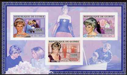 Guinea - Conakry 2006 Princess Diana imperf sheetlet #2 containing 3 values unmounted mint Yv 2712-14