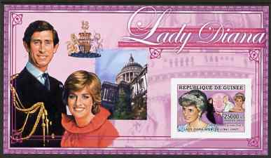 Guinea - Conakry 2006 Princess Diana imperf s/sheet #04 containing 1 value (St Pauls) unmounted mint Yv 346