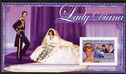 Guinea - Conakry 2006 Princess Diana imperf s/sheet #06 containing 1 value (in Wedding Dress) unmounted mint Yv 348