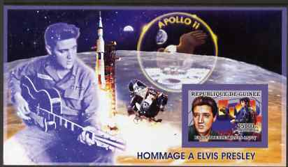 Guinea - Conakry 2006 Elvis Presley imperf s/sheet #1 containing 1 value (Apollo 11) unmounted mint Yv 322