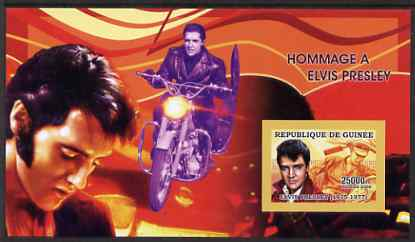 Guinea - Conakry 2006 Elvis Presley imperf s/sheet #2 containing 1 value (Motorcycle) unmounted mint Yv 323