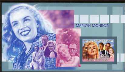 Guinea - Conakry 2006 Marilyn Monroe imperf s/sheet #1 containing 1 value (with Arthur Miller) unmounted mint Yv 325