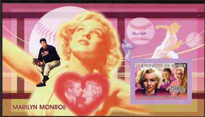 Guinea - Conakry 2006 Marilyn Monroe imperf s/sheet #2 containing 1 value (with Joe DiMaggio) unmounted mint Yv 326