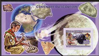 Guinea - Conakry 2006 Centenary of Scouting imperf s/sheet #03 containing 1 value (Minerals) unmounted mint Yv 339