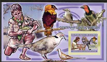 Guinea - Conakry 2006 Centenary of Scouting imperf s/sheet #05 containing 1 value (Owls) unmounted mint Yv 341