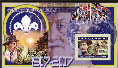 Guinea - Conakry 2006 Centenary of Scouting imperf s/sheet #06 containing 1 value (Baden Powell) unmounted mint Yv 342