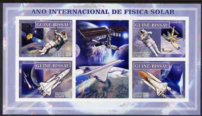 Guinea - Bissau 2007 International Space Year (Concorde & Shuttle) imperf sheetlet containing 4 values & 2 labels unmounted mint
