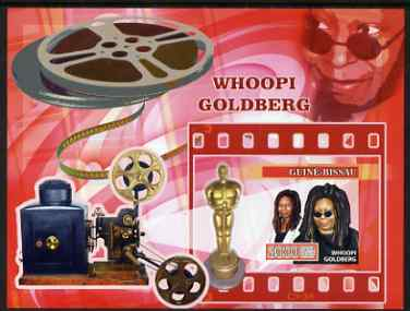 Guinea - Bissau 2007 Whoopi Goldberg imperf sheetlet containing 4 values unmounted mint, Yv 2278-81