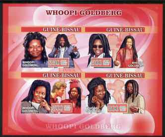 Guinea - Bissau 2007 Whoopi Goldberg imperf s/sheet containing 1 value unmounted mint, Yv 334