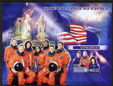 Guinea - Bissau 2007 Space Shuttle Columbia imperf s/sheet containing 1 value unmounted mint, Yv 336