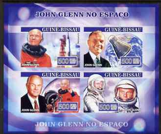 Guinea - Bissau 2007 John Glenn imperf sheetlet containing 4 values unmounted mint, Yv 2290-93