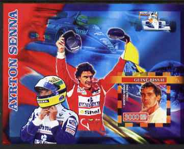 Guinea - Bissau 2007 Ayrton Senna imperf s/sheet containing 1 value unmounted mint, Yv 338