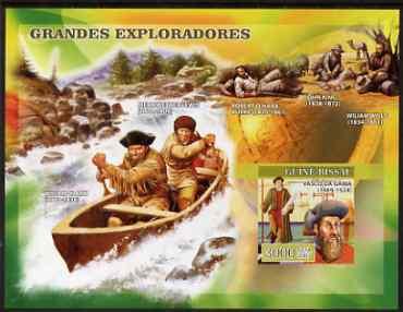 Guinea - Bissau 2007 Explorers #2 imperf s/sheet containing 1 value (Vasco Da Gama) unmounted mint, Yv 341