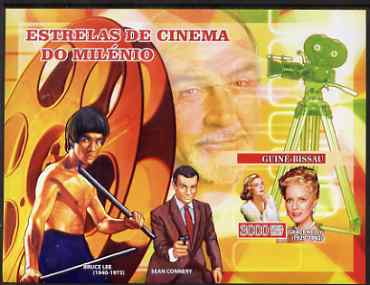Guinea - Bissau 2007 Cinema Stars imperf s/sheet containing 1 value (Grace Kelly, Bruce Lee & Connery) unmounted mint, Yv 348