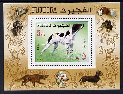 Fujeira 1970 Dogs (Pointer) m/sheet unmounted mint (Mi BL 38A)