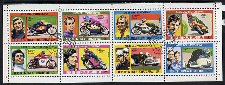 Equatorial Guinea 1976 Motor cyclists #1 set of 8 cto used, Mi 895-902