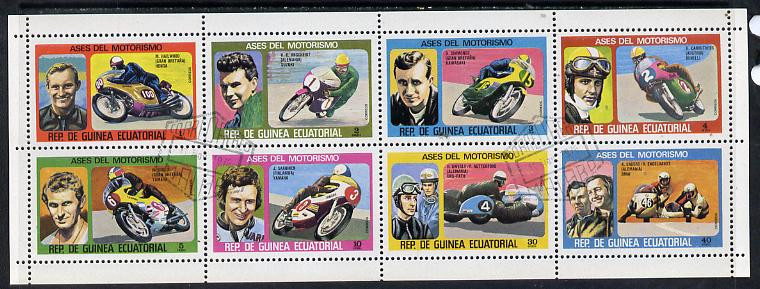 Equatorial Guinea 1976 Motor cyclists #2 set of 8 cto used, Mi 903-10