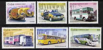 Cuba 2007 Transport perf set of 6 values unmounted mint