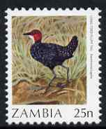 Zambia 1987 Birds - 25n Crake unmounted mint, SG 487