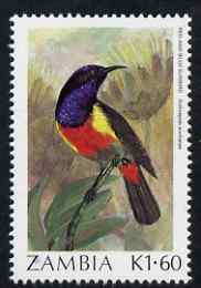 Zambia 1987 Birds - 1k60 Sunbird unmounted mint, SG 495