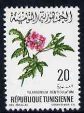 Tunisia 1968 Geranium 20m unmounted mint, SG 668