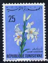 Tunisia 1968 Madonna Lily 25m unmounted mint, SG 669