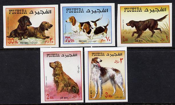Fujeira 1970 Dogs imperf set of 5 unmounted mint (Mi 602-606B)
