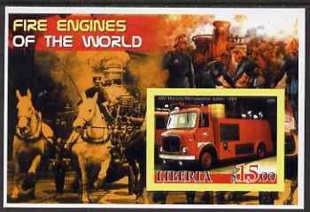 Liberia 2005 Fire Engines of the World #04 imperf s/sheet unmounted mint