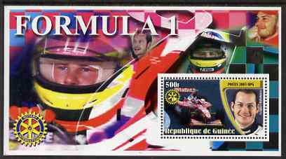 Guinea - Conakry 2003 Formula 1 perf s/sheet #2 containing 1 value (Jacques Villeneuve) with Rotary logo unmounted mint