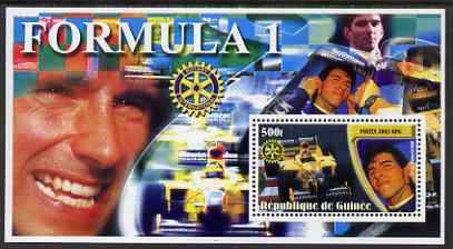 Guinea - Conakry 2003 Formula 1 perf s/sheet #3 containing 1 value (Damon Hill) with Rotary logo unmounted mint