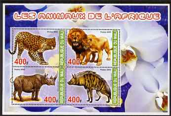 Mali 2005 Animals of Africa perf sheetlet containing set of 4 values unmounted mint