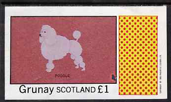 Grunay 1983 Dogs (Poodle) imperf souvenir sheet (�1 value) unmounted mint