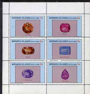 Bernera 1983 Precious Stones perf set of 6 values unmounted mint