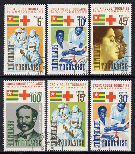 Togo 1966 Red Cross set of 6 cto used, SG 459-64*