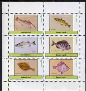 Bernera 1983 Fish (Cod, Pollack, Bass, Bream, Flounder & Boar) perf set of 6 values unmounted mint