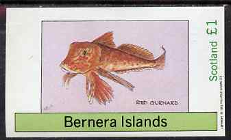 Bernera 1983 Fish (Gurnard) imperf souvenir sheet (�1 value) unmounted mint