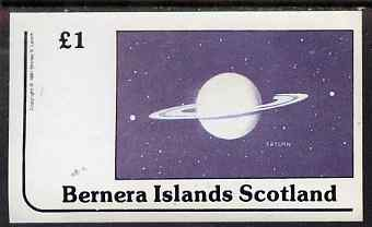 Bernera 1981 Planets (Saturn) imperf souvenir sheet (�1 value) unmounted mint