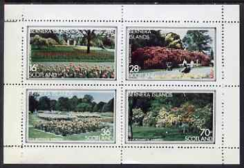 Bernera 1983 Kew Botanical Gardens perf set of 4 values unmounted mint, stamps on flowers, stamps on national parks, stamps on gardens