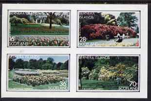 Bernera 1983 Kew Botanical Gardens imperf set of 4 values unmounted mint, stamps on flowers, stamps on national parks, stamps on gardens