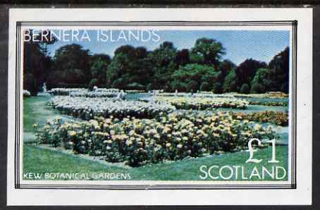 Bernera 1983 Kew Botanical Gardens imperf souvenir sheet (�1 value) unmounted mint, stamps on flowers, stamps on national parks, stamps on gardens