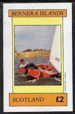 Bernera 1981 Sailing imperf deluxe sheet (�2 value) unmounted mint