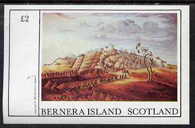 Bernera 1981 Paintings of Battles imperf deluxe sheet (�2 value) unmounted mint