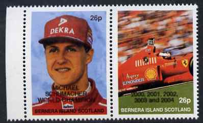 Bernera 2004 Michael Schumacher World Champion opt on 1997 se-tenant pair unmounted mint